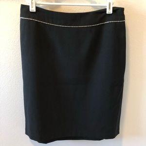 black Nicole Miller skirt